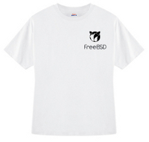 FreeBSD New Bobble Tshirt (White)